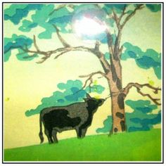 Cow in pasture craft pattern