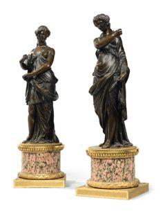 A pair of century French bronze figures of Vestals. Bronze Sculpture, Sculpture Art, Statues, Classic Architecture, Iron Decor, Wood Carving, Wood Art, Metal, Modern Art