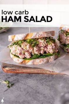 *NEW* Creamy, tangy, and so satisfying, this keto ham salad is the perfect use of your leftovers, although soon you'll buy ham just to make it! #ketohamsalad #lowcarbhamsalad #lowcarbsalad #ketosalad #lowcarbsalads #ketosalads #lowcarblunch #ketolunch #lowcarbdinner #ketodinner Good Healthy Recipes, Paleo Recipes, Low Carb Recipes, Fresh Salad Recipes, Lunch Recipes, Easy Salads, Easy Meals, Ham Salad, Low Carb Lunch