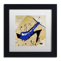 Blue Heel by Roderick Stevens Matted Framed Painting Print