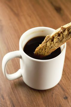 Almond Biscotti are the best complement to a lazy Sunday morning cup of coffee or a cold night by the fire, dipped in hot chocolate.