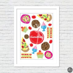 Modern Islamic Wall Art: BISMILLAH Food  by wishEDprintables