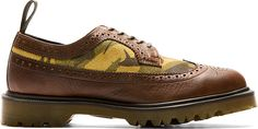 Dr. Martens: Brown Leather & Suede 3989 Brogues