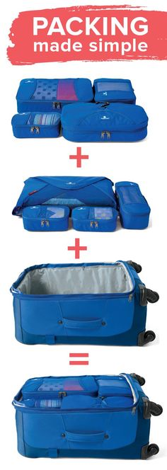 Make packing simple with our Eagle Creek™ PackIt™ System and Luggage!