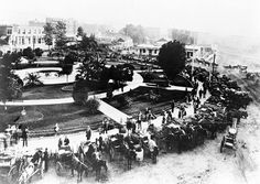 The Plaza in the 1880s. Courtesy of the California Historical Society Collection, USC Libraries.