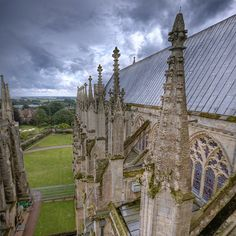 "(Ely Cathedral , Cambridgeshire )   ""Over the Pinnacles and Across the Fen""  by Non Paratus, via Flickr"