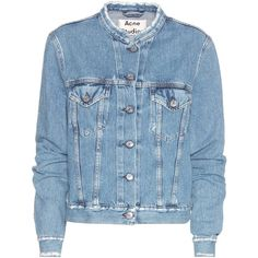 Acne Studios Denim Jacket (7,095 MXN) ❤ liked on Polyvore featuring outerwear, jackets, blue, denim jacket, blue jean jacket, acne studios, blue jackets and jean jacket