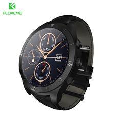 Floveme uw23 android smart watch smartwatch bluetooth 4.0 monitor del ritmo cardíaco de la llamada de teléfono 4g/512 m multi-funcional relojes de pulsera
