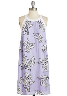 Wisteria Tunnel of Love Dress. After a trip to see Japans flowering archway, your wardrobe has flooded with florals - like this lilac shift dress! #lavender #modcloth
