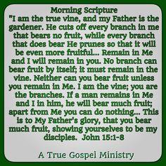 Morning Scripture #atruegospelministry