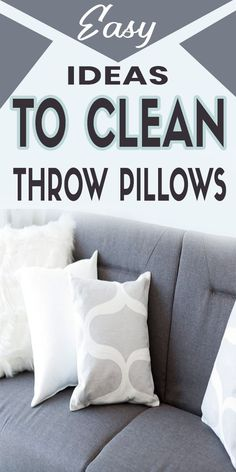 Deep Cleaning Checklist, Deep Cleaning Tips, Household Cleaning Tips, House Cleaning Tips, Cleaning Products, Cleaning Hacks, How To Wash Throw Pillows, Large Throw Pillows, How To Clean Pillows