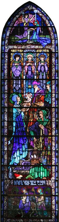 Harry Clarke stained glass window in Killaloe Church No image credit noted, originally pined to the board 'Medieval' by Meggan Jordan on Pinterest