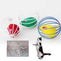 2017 Popular New Pet Mèo Đồ Chơi Chuột Bóng Đáng Yêu Kitten Gift Vui Chơi Đồ Chơi Chuột Bi Món Quà Tốt Nhất Cho Pet mèo
