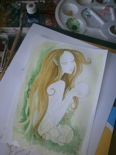 """""""Pearl"""" ...colouring Colouring, Pearls, Artwork, Painting, Color, Colour, Work Of Art, Beads, Painting Art"""