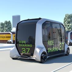 Toyota has unveiled an autonomous, fully electric concept vehicle that could function as a communal taxi or delivery truck depending on the time of day. Best Rv Parks, E Mobility, Future Transportation, Futuristic Cars, Futuristic Architecture, Engin, Truck Design, Smart City, Automobile Industry
