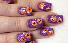 Diseños de uñas pinceladas manos y pies, diseño de uñas pinceladas rosas. Clic Follow,  #diseñodeuñas #decoratednails #uñassencillas