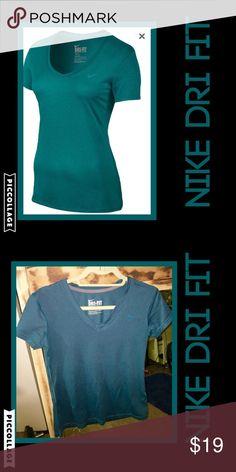 Nike dri fit short sleeve tee teal blue SZ SM As seen Nike Tops Tees - Short Sleeve