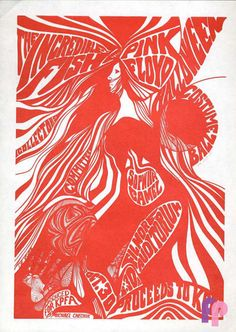 Pink Floyd at Fillmore Auditorium 10/30/67 by De Vore