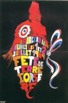 Affiches Politique 1950-1990 1989 06 Juin Pcf Corse Fete De