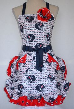 Houston Texans Womens Apron Double Ruffled with by OliviabyDesign, $33.95