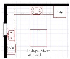 Island Kitchen Floor Plan kitchen floor plans designs | wallpaper l shaped kitchen designs