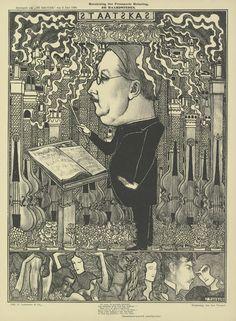 De staatskas (De haardsteden) uit het tijdschrift De Kroniek (2 juni 1895), 1895, Jan Toorop, Van Gogh Museum, Amsterdam (Vincent van Gogh Stichting)