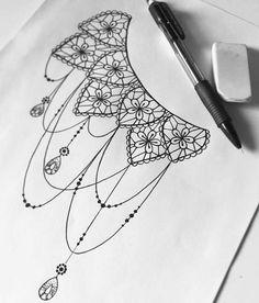 dessin tatouage dentelle mandala