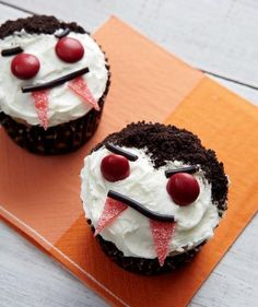 Vampire cupcakes recipe from Real Simple.