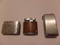 3 REPAIR VINTAGE LIGHTER LOT BENTLEY PAC & PARKER FLAMINAIRE