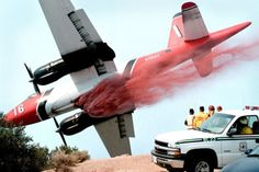 California wildfire retardant drop… Great picture!