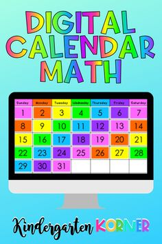 Thinking about switching to a digital calendar routine for remote or distance learning?  In this blog post, I'll show you how I have taken all of my purposeful calendar content and transformed it into a digital and interactive lesson for kindergarten and first grade teachers to use in the classroom or for remote learning! Kindergarten Calendar, Kindergarten Teachers, Elementary Teacher, First Grade Activities, Math Activities, Teaching Numbers, School Closures, First Grade Teachers, Fun Learning