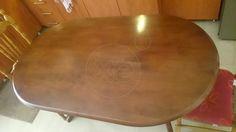 ΤΡΑΠΕΖΑΡΙΑ με δύο καρέκλες. Το τραπέζι είναι σε σχήμα οβάλ από μασίφ ξύλο σε φυσικό χρώμα. Οι διαστάσεις της είναι 1 , 50 επί 0 , 90 και βρίσκεται σε πολύ καλή κατάσταση., τιμή 80€ , 10:00-22:00 Kitchen, Home, Cooking, Kitchens, Ad Home, Homes, Cuisine, Haus, Cucina
