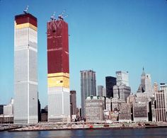 The Twin Towers under construction 1971 photo by Paul Popper --- World Trade Towers, World Trade Center Nyc, Trade Centre, 11 September 2001, Vintage New York, Famous Places, Under Construction, Willis Tower, Historical Photos