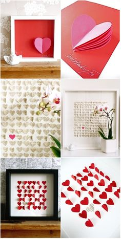paper hearts -- tried this, comes out so cute, need to do it again