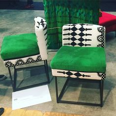 A gorgeous combination. As seen at the @100percentdesignsa #pictureafrica exhibition at @decorex_sa in #CapeTown today.