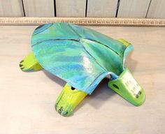 Repurposed Turtle Garden Decor Metal Yard Art by FrogLevelFarm, $25.00