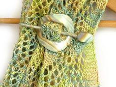 Polymer Clay Shawl Pin Tutorial by Eskimimi, via Flickr