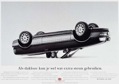 """Read more: https://www.luerzersarchive.com/en/magazine/print-detail/audi-7310.html Audi As a roofless person, you might well be able to use some extra support.(The Dutch term for """"roofless"""" also means """"homeless."""") Tags: David Kater,Audi,Saatchi & Saatchi, Amsterdam,Zwier Veldhoen,Richard Kuiper"""