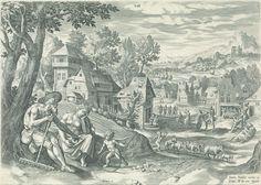 Lamech and his Family. By Johann Sadeler (I), after Marten de Vos, 1586