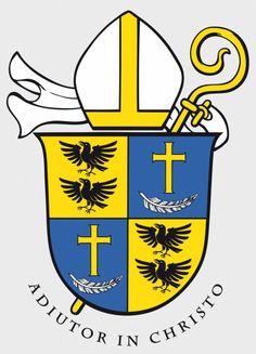 Wappen und Wahlspruch von Dr. Urban Federer OSB, dem 59. Abt des Klosters Einsiedeln; Rolf Kälin fecit, 30. XI. 2013.