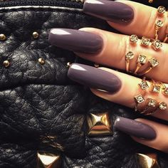 No words, just  Nails: @teananails. Rings: @forever21