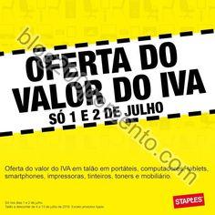 Oferta do valor do Iva STAPLES fim de semana dias 1 e 2 julho - http://parapoupar.com/oferta-do-valor-do-iva-staples-fim-de-semana-dias-1-e-2-julho/