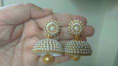 Silk Thread Jumkas, Silk Thread Bangles, Thread Jewellery, Thread Art, Silk Thread Earrings Designs, Beaded Necklace Patterns, Jewelry Patterns, Quilling Jewelry, Diy Jewelry
