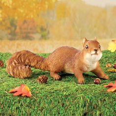 This charming squirrel features realistic, hand-painted details and is perfect anywhere in your yard, garden or on your patio for a delightful display. Garden Animal Statues, Garden Statues, Garden Figurines, Diy Bird Feeder, Collections Etc, Unique Gardens, Dream Garden, Just In Case, Hand Painted