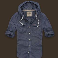 Hollister hooded shirt
