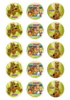 Buy the Scooby Doo Icons Sheet available in Bottle Cap Art, Bottle Cap Crafts, Bottle Cap Images, Scooby Doo Cake, Scooby Doo Dog, Birthday Fun, Birthday Parties, Birthday Ideas, Drawing Templates
