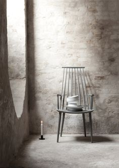Light render over bricks. Norm Cofoco Copenhagen | HÖST Spindleback Chair | Est Magazine