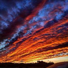 Cielo de fuego esta tarde en Ribarroja. #Nubes #Atardecer #Cielo #Sol #Valencialavella #estoyenribaroja by kikebm__78