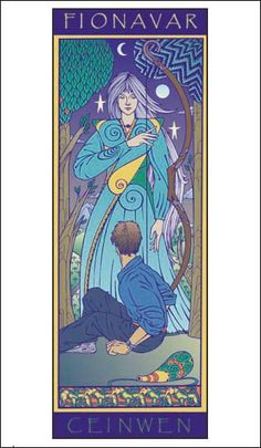 Ceinwen the Huntress with Dave Martyniuk - a poster by artist Martin Springett, from characters in The Fionavar Tapestry by Guy Gavriel Kay. Fantasy Literature, Summer Trees, To My Daughter, Daughters, Book Characters, Book Club Books, The Darkest, My Favorite Things, Tapestry