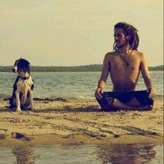 dreads.beach.doggie.sand.